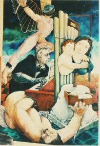 Alessandro Pultrone RITRATTO DEL MAESTRO S. SINIBALDI 120 x 150