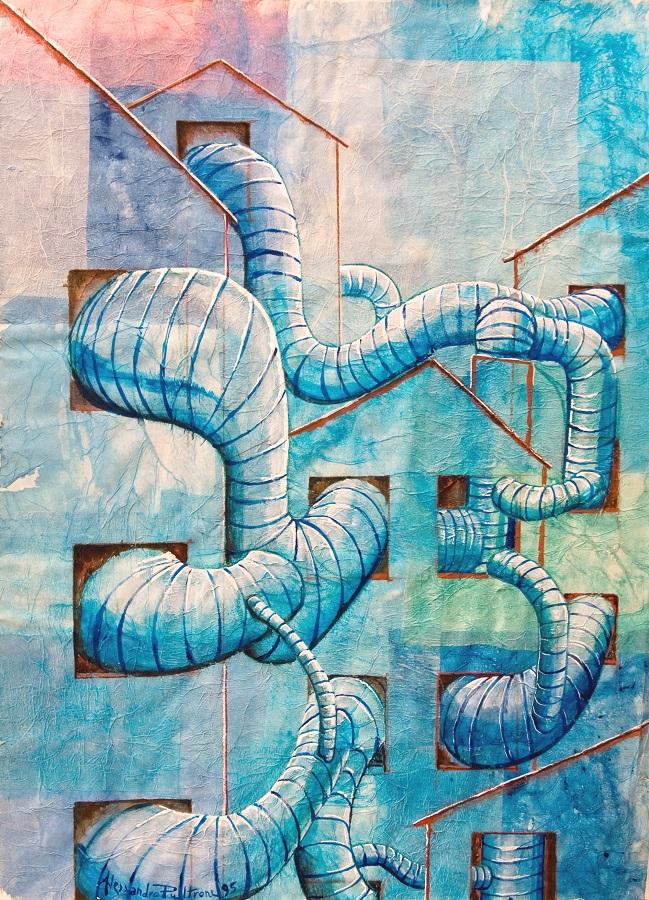 Alessandro Pultrone TUBI BLU paesaggio