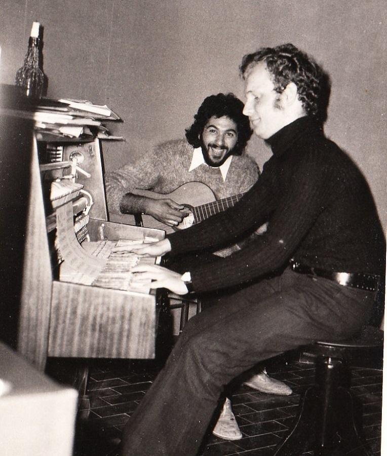 Alessandro Pultrone e Giorgio Ronco prove cabaret '72