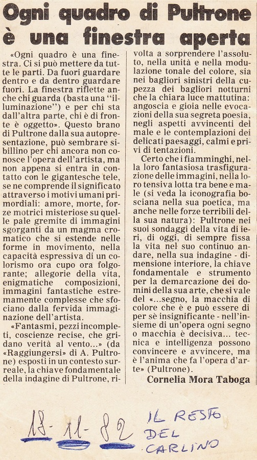 Alessandro Pultrone la critica