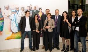 I realizzatori della mostra alla Sapienza