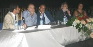 """Il dott. N. Gratteri, il dott. G. Cricenti, la psicomotricista Alessandra Rizzello e Alessandro Pultrone relatori al convegno """"dalla legalità al diritto allo studio …"""