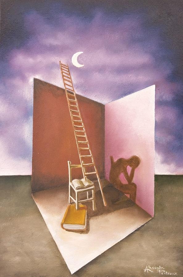 SCRIPTA MANENT olio su tela 40 x 60 di Alessandro Pultrone 2010