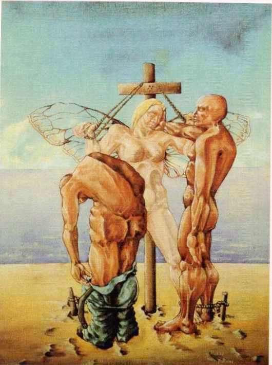 VIOLENZA ALL'ANGELO olio su tela di alessandro pultrone